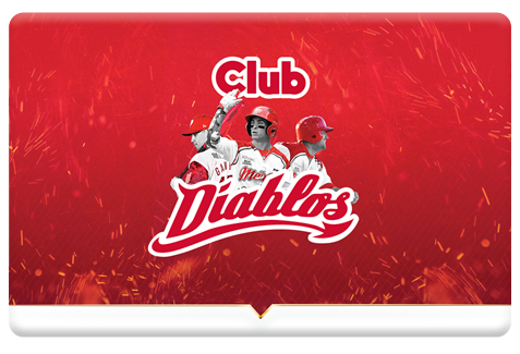 Tarjeta plástica Club Diablos