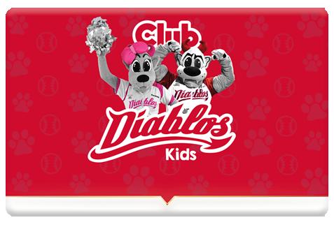 Tarjeta plástica Club Diablos Kids